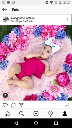Cute Little Baby, Cute Baby Girl, Baby Girl Newborn, Cute Babies, Baby Girl Pictures, Newborn Pictures, Newborn Christmas Photos, Outfits Niños, Baby Girl Photography