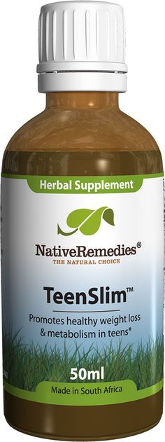 TeenSlim™ - Herbal remedy to help maintain a healthy weight & balanced metabolism in teens, plus assist weight management programs