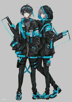 Does anyone know the anime for this. Plus I need some pictures like this. Anime Oc, Anime Chibi, Kawaii Anime, Manga Anime, Manga Japan, Anime Krieger, Estilo Anime, Cute Anime Guys, Cyberpunk Art