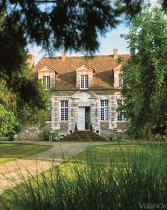 The Boston-based designer's centuries-old house in Normandy. Image originally appeared in the January/February 2012 issue of Veranda. INTERIOR DESIGN BY CHARLES SPADA   - Veranda.com