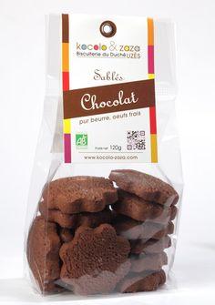 Biscuits Sablés au Chocolat pur beurre aux oeufs frais Kocolo & Zaza