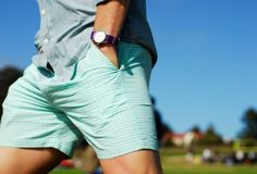 Bright shorts for summer. But when you wear an adult watch with them, somehow you still look put-together. I think we need to get you a nice watch.