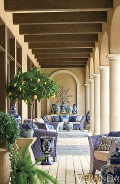 One of my Dallas client's veranda, shown in Veranda mag.