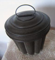 antique german tin pudding mold by sixpencebluemoon on Etsy