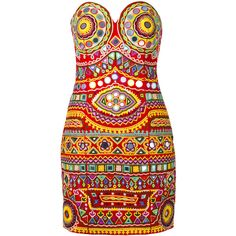 Moschino mirror embroidered mini dress (€2.130) ❤ liked on Polyvore featuring dresses, moschino, abiti, vestidos, multicolor, colorful dresses, sweetheart neckline dress, embroidered dress, embroidery dresses and moschino dress