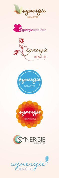 Logos Synergie Bien-Être by Guillaume Viaud, via Behance