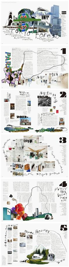 Layout design is pretty interesting. Its a little bit busy but also eye catching. The chaos works for me Japanese Graphic Design, Graphic Design Layouts, Graphic Design Typography, Branding Design, Poster Layout, Book Layout, Print Layout, Editorial Design, Editorial Layout