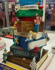 This tasty tower of literature. | 22 Magical Cakes All Book Lovers Will Appreciate