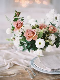 Romantic dreamy wedding table decor: http://www.stylemepretty.com/2017/04/03/the-playbook-for-adding-all-out-romance-to-your-wedding-day/ Photography: Valentina Glidden - http://valentinaglidden.com/