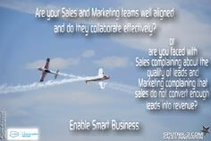 Effective Sales and Marketing alignments leads to greater revenue attainment.