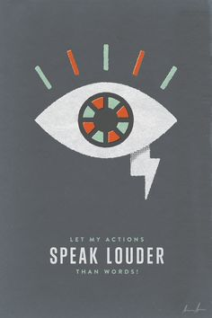 Let my actions speak louder than words by Albin Holmqvist