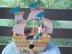 Mermaids Ship Birdhouse