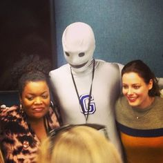 """gampsandtatters:    Day 9: Front door. As in """"Shut the."""" Gillian Jacobs and Yvette Nicole Brown made a surprise appearance for #Communicon!    Damnit! Now I'mInsanely Upset I Missed This."""