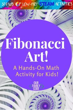 Teach the Fibonacci Sequence with this Easy Math & Art Activity! This math and art activity presents this would-be complex mathematical concept in an easy to understand, tangible way with Fibonacci art! Math Activities For Kids, Steam Activities, Math For Kids, Spring Activities, Steam Art, Simple Math, Easy Math, Math Projects, Math Art