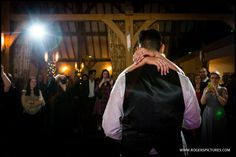 Andrea and Rob's First Dance at Rivervale Barn - http://www.rogerspictures.com/rivervale-barn-wedding-photography