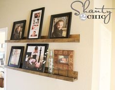 DIY Shelving Ideas: These picture shelves are almost identical to the ones you can find at Pottery Barn, but they were made for a fraction of the price. And they are super simple to make. This one is going on my list! Simple Picture Shelf Tutorial
