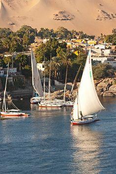 Nile in Aswan, Egypt