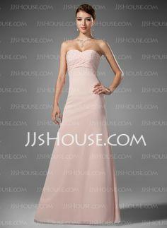 Bridesmaid Dresses - $106.99 - Empire Sweetheart Floor-Length Chiffon Bridesmaid Dresses With Ruffle  Beading (007001755) http://jjshouse.com/Empire-Sweetheart-Floor-length-Chiffon-Bridesmaid-Dresses-With-Ruffle-Beading-007001755-g1755