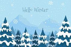 Baby Blue Background, Scenery Background, New Years Background, Winter Background, Landscape Background, Landscape Wallpaper, Snowfall Wallpaper, Winter Wallpaper, Print Wallpaper