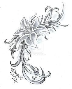 Flower Climb Tattoo Design by 2Face-Tattoo