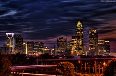 No matter how many times I see it - the skyline always makes me happy. Love my home of Charlotte, NC