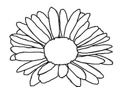 medium daisy flower coloring pages - photo#37