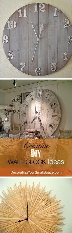 Creative Uhren zum nachbauen. Einfache Anleitung für besondere Uhren, die nicht in jedem Haushalt zu finden sind. #Clock #Uhren #DIY