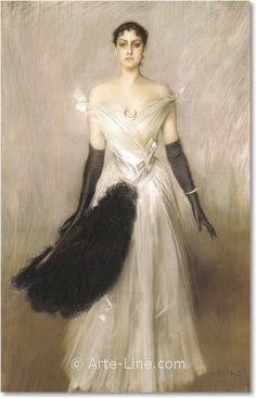 Portrait of a Lady Artist: Giovanni Boldini Completion Date: 1889 Style: Realism Giovanni Boldini, John Singer Sargent, Italian Painters, Italian Artist, Thomas Gainsborough, Grand Palais, Fashion Painting, Woman Painting, A4 Poster