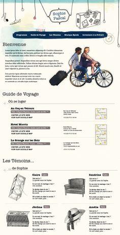 Petit site créé par La Factoria pour un mariage !