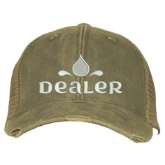 Distressed Trucker Hat - Dealer Backyard Play, Messy Hairstyles, Don't Care, Mud, Stitching, Baseball Hats, Closure, Birthday, Products