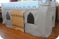 A Castle Fit for Little Kings {tutorial} - So You Think You're Crafty