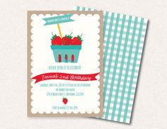 Strawberry Farmers Market Birthday Party or by SmashCakeParties