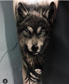 As we mentioned above, today we're going to satisfy our ink hunger with the most beautiful wolf tattoo designs that the internet has ever seen Wolf Tattoos Men, Animal Tattoos, Leg Tattoos, Body Art Tattoos, Tattoos For Guys, Cool Tattoos, Tattos, Wolf Tattoo Forearm, Wolf Tattoo Sleeve