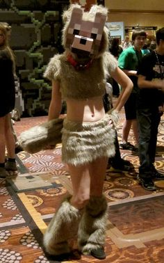 Adorable wolf costume from Minecraft