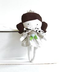 Princess rag doll with cape capelet Stuffed toy by ZazoMini