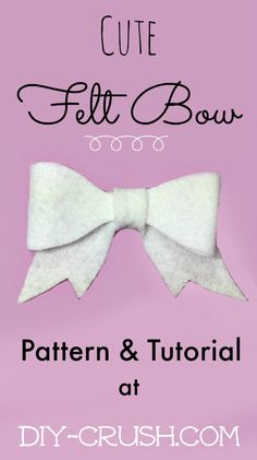 Cute Felt Bow Pattern and Tutorial at DIY Crush, the place for #sewingpatterns #crafts #DIY