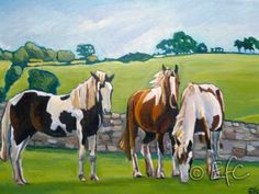 Horses By Emma Cownie Landscape Art, Landscape Paintings, Natural Scenery, Horse Art, American Artists, Rocky Mountains, Animal Kingdom, Wilderness, Swansea