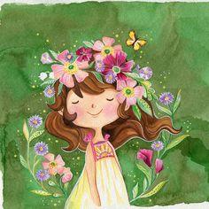 Art And Illustration, Character Illustration, Cartoon Kunst, Cartoon Art, Tableaux Vivants, Cute Cartoon Wallpapers, Whimsical Art, Anime Art Girl, Belle Photo
