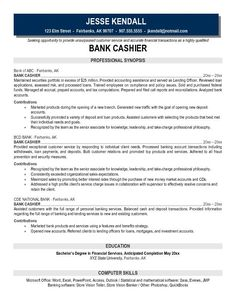 example bank cashier resume free sample investment banking careerperfect - Examples Of Resumes For Cashiers
