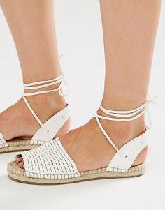 Image 1 ofNew Look Tie Ankle Espadrille Sandal