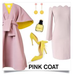 Just Fab by tina-pieterse on Polyvore featuring polyvore fashion style Chicwish Delpozo JustFab J.W. Anderson Yves Saint Laurent clothing pinkcoat