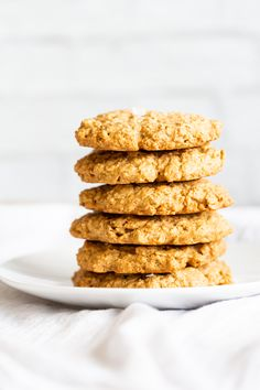 These 1 Bowl Tahini Oatmeal Cookies have no refined sugar and oil and come together within minutes. No eggs, Vegan, Glutenfree, Nutfree, Soyfree Tahini Oat Cookie Recipe Oat Cookie Recipe, Oatmeal Cookies, Cookie Recipes, Cookies Vegan, Baking Recipes, Paleo, Keto, Vegan Gluten Free, Vegan Treats