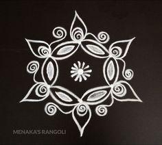 Small Rangoli Design, Rangoli Designs Diwali, Rangoli Designs With Dots, Rangoli Designs Images, Rangoli With Dots, Beautiful Rangoli Designs, Simple Rangoli Kolam, Rangoli Borders, Rangoli Border Designs
