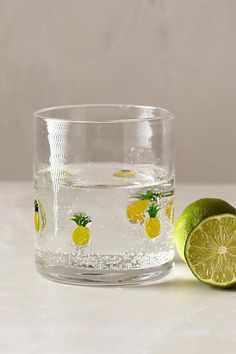 Anthropologie Fruit Wedge Tumbler