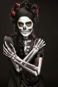 Day of the Dead make up and hair