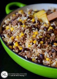 Quick Dinner Recipe - Tex Mex Rice Bowl