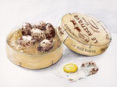 quail's eggs in camembert box