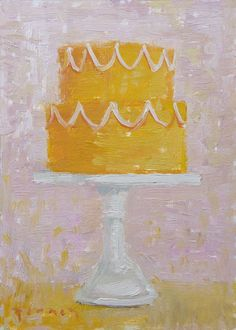 more like canvas i love? haha paul ferney cake paintings. might have to have these somewhere in my kitchen.