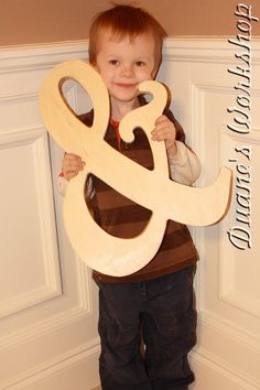 """14"""" Wooden Ampersand Photography prop, Wooden Alphabet Letters, DIY, Engagement, Wedding Decor, Photography Props, Wedding"""