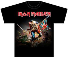 Iron Maiden T-shirt - The Trooper Song Single Album Cover Artwork Black Shirt… Iron Maiden The Trooper, Rock And Roll Artists, Iron Maiden Albums, Iron Maiden T Shirt, Rock Album Covers, Heavy Metal Bands, Rock T Shirts, Movie T Shirts, Band Merch